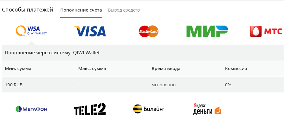 Платежи на сайте фон бет ру